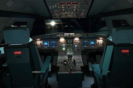 Simulador de vuelo Boeing 737-NG o Airbus 320 para 1 o 2 personas en Cinetic Plus Aeronáutica