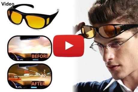Briller der dæmper blænding fra skarpe lygter