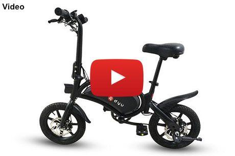 Innovativ og alsidig elektrisk cykel -- kraftfuld 240W motor - 50 km rækkevidde