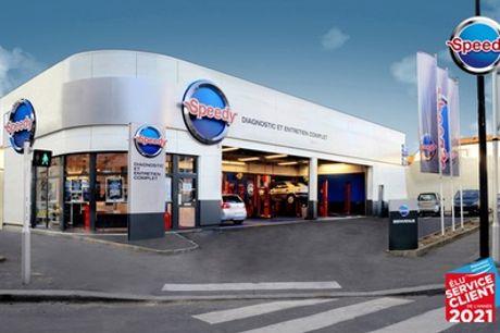 Bon d'achat donnant droit à 100 € dans un centre Speedy France (50% de réduction)