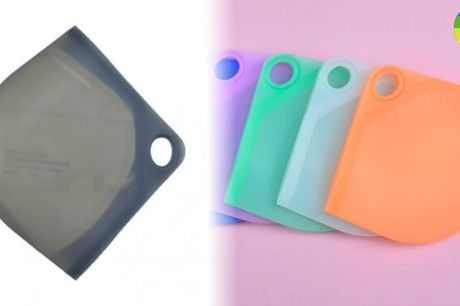 Bærbar opbevaringspose i silikone til ansigtsmasker