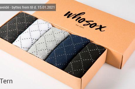 Fyld skuffen med 5, 10 eller 15 par herrestrømper i høj kvalitet og lækkert design - inkl. fri fragt