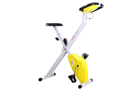 HOMCOM Foldable Steel Exercise Bike With LCD Monitor     Made with a heavy-duty steel frame that is strong and durable even with daily use     Foldable design means you can easily store it away, meaning it's great for small spaces     Keep an eye on yo