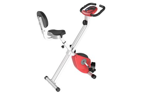 HOMCOM Exercise Bike With LCD Display - 3 Colours. On yer bike     Adjustable to 8 different resistance modes     Ideal for beginners or those who want a low-intensity workout at home     Features a clear LCD monitor displaying the time, speed and calo