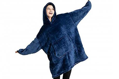 Oversized Snuggle Blanket Hoodie - 8 Colours     Complete with a large hood to keep your ears warm too     With spacious pockets for your belongings and hands     The perfect way to keep yourself warm at your desk, on your sofa and more     Choose fro