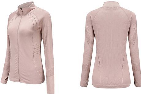 Women's Lightweight Zip Up Running Jacket - 3 Colours & Sizes     Available in women's UK sizes 6, 8 or 10     This lightweight jacket is ideal for keeping you warm during your workouts without overheating     Features small holes on the side of the ar