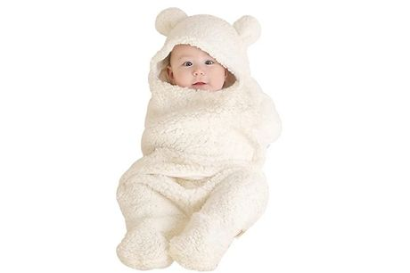 Baby Teddy Bear Swaddle Onesie - 4 Colours. Your newborn will be sleeping like an angel in this Baby Teddy Bear Swaddle Onesie     With the soft fleece material, they can keep warm as they sleep without the need for a blanket     Sides wrap around to sw