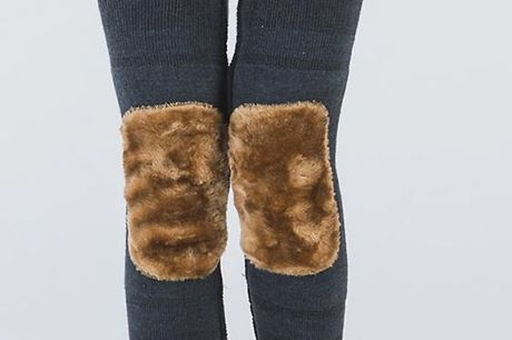 Faux Fur Knee Patch Leg Warmers - 4 Designs     Faux fur patch on the leg warmers keeps your knees extra cosy     Wear them underneath clothes or with skirts and dresses     Cover mid thighs down to mid calves     Elastic around the top and bottom kee