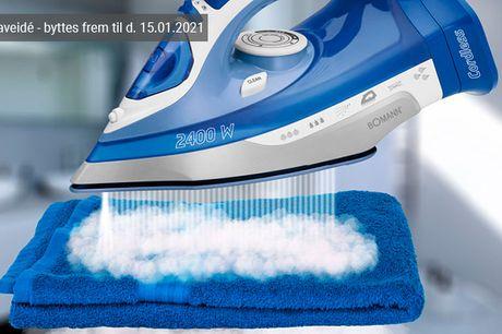 Spar en masse besvær, mens du stryger skjorterne med et ledningsfrit dampstrygejern fra Bomann - inkl. fri fragt