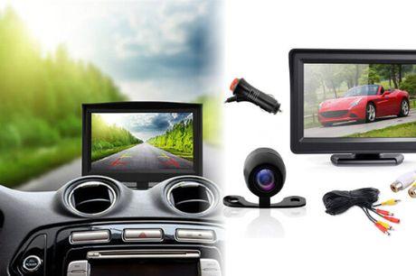 Sæt med 4,3'' LCD-skærm og bakkamera til bilen