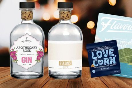 £16.99 instead of £27.50 for a premium craft 200ml gin twin bundle from Flavourly including a snack and a magazine. Or £29.99 for a premium craft 200ml four gin bundle- save up to 38%