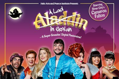 £8 instead of £16 for a digital family ticket for A Lad in Govan pantomime with Halo Arts - enjoy unlimited viewings, share up to three times with family and friends and save 50%