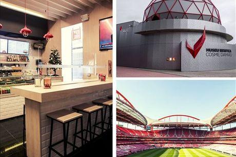 Passe um dia memorável no Estádio da Luz com direito a cachecóis, visita ao estádio e museu e uma refeição para 2 no Red Bar. Não espere mais e aproveite agora por apenas 39,9€