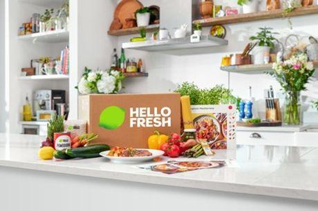 Maaltijdboxen van HelloFresh thuisbezorgd voor een periode van 1, 2, 3 of 4 weken
