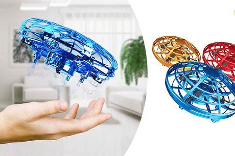 Innovativ og magisk UFO-drone med infrarød sensor og LED-lys