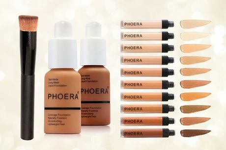 £11.99 instead of £34.97 for a three-piece Phoera foundation, concealer and foundation brush from Forever Cosmetics - save 66%