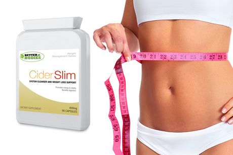 £6.99 for a one month supply* of apple cider vinegar weight loss capsules, £12.99 for a two month supply*, or £18.99 for a three month supply* - Better Bodies