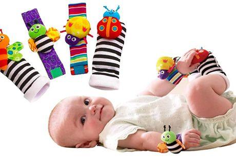 4 stk. Bløde babysokker med søde dyr