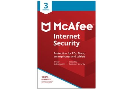 McAfee Internet Security 2020 Three Devices for One-Year License