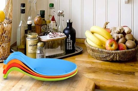 £6.99 for a set of four silicone kitchen spoon holders from I-nod