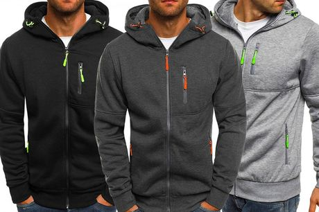 £14.99 instead of £49.99 for a casual men's zip-up hoodie in sizes M-XXL from Pinkpree - save 70%