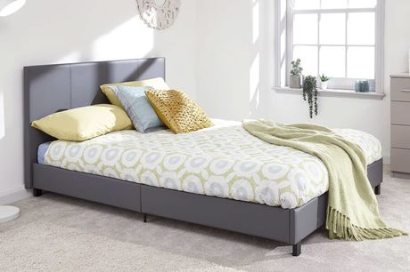 From £99 instead of £249.99 for a single grey faux leather bed choose from four sizes with mattress options and from FTA Furnishings – save up to 60%