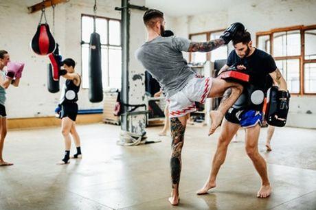 1 o 3 meses de clases colectivas de boxeo, muay thai, kick boxing y K1 desde 29,99 € en Usera Fight Club