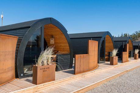 Lækkert ophold i Natur-suite 2.0 på Henne Strand Camping & Resort - inkl. vin, bobler, tapas og morgenmad m.m.