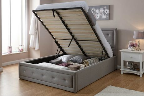From £259 for a fabric diamante ottoman bed from FTA Furnishing - save up to 48%