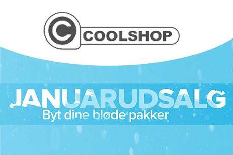 Januarudsalg hos Coolshop, hvor der lige nu er kæmpe besparelser på både kosmetik og elekronik. Se de mange tilbud her: