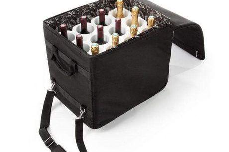 Vincheckflybagage til 12 flasker, flyselskab & TSA-kompatibel. Vincheckflybagage til 12 flasker, flyselskab & TSA-kompatibel + fri fragt v/1 stk Vincheck er en sikker, bekvemt og lovlig måde at flyve med 12 flasker vin, champagne, øl,cider, stærk spirit