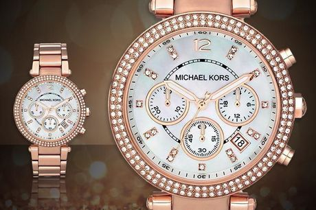 £99 instead of £279 for a ladies Michael Kors MK5491 rose gold Parker watch from CJ Watches - save 65%
