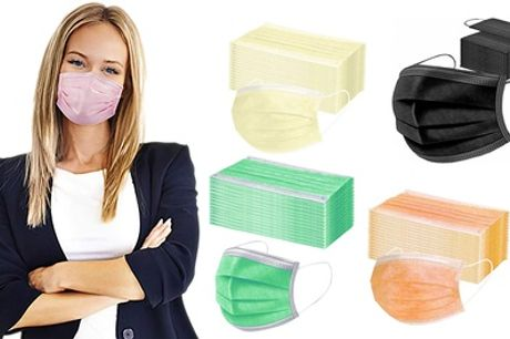 50-Pack of Pastel Face Mask