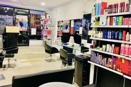 Sesión de peluquería con corte con lavado y secado y opción a tinte y mechas en Jhan Christian Peluqueros