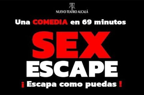 """Entrada a la comedia """"Sex Escape"""" del sábado 2 al 30 de enero en Madrid con SOM Produce"""
