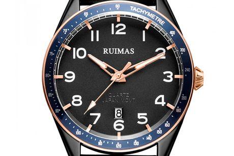 Ruimas RL573G-BK-1N0 Ruimas ure er unikke, ekstravagante og tør skille sig ud fra mængden. Deres design er nytænkende indenfor urbranchen og de udfordrer det traditionelle design. Tør du skille dig ud fra mængden, så er Ruimas sikkert er perfekt match f