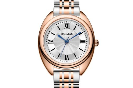 Ruimas RS593LTR-7N0 Ruimas ure er unikke, ekstravagante og tør skille sig ud fra mængden. Deres design er nytænkende indenfor urbranchen og de udfordrer det traditionelle design. Tør du skille dig ud fra mængden, så er Ruimas sikkert etperfekt match f