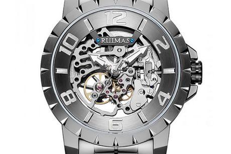 Ruimas RS6784G-GUN15 Ruimas ure er unikke, ekstravagante og tør skille sig ud fra mængden. Deres design er nytænkende indenfor urbranchen, og de udfordrer det traditionelle design. Tør du skille dig ud fra mængden, så er Ruimas sikkert er perfekt match