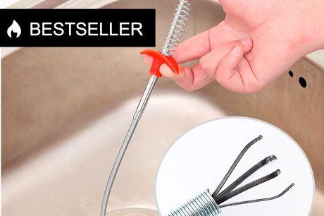 Fleksibel kloak og afløbsrenser. Leveringstiden på dette produkt er 1-2 hverdage     Har du et afløb der driller? Så er dette den bedste måde at få det gjort på. Med afløbsrenseren kan du hurtigt fjerne det, der stopper afløbet på få sekunder. Tryk på k