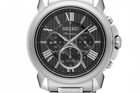 Seiko Premier SSC597P1 Seiko er et ikonisk brand indenfor design og udvikling af ure. Deres historie er lang og udspringer i Japan 1881. De er markedsledende netop fordi, de er foran deres konkurenter på teknologien og udviklingen. Ved at købe et Seiko e
