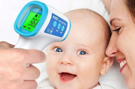 Trådløst termometer. Tjek lynhurtigt om du eller familien har feber - uden fysisk kontakt - Gratis fragt!