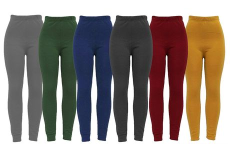 £6.99 for a pair of women's high-waisted faux fur lined leggings