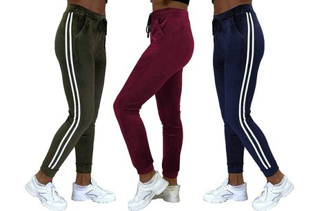 £8.99 for a pair of women's velour joggers in UK sizes 8-10 - 12-14 from Want Clothing
