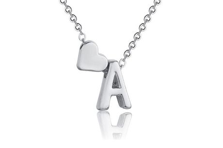 £6.99 for an alphabet heart initial necklace from Taylors Jewellery - choose your letter!