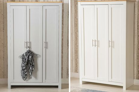 £199 instead of £419.99 for a three-door wardrobe in white or grey from Dreams Outdoors - save 53%