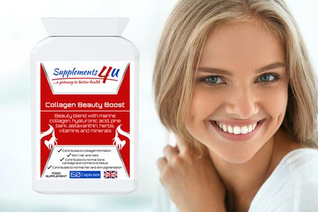 £9.99 instead of £34.99 for a two-month* supply of collagen supplements, £16.99 for a four-month* supply from Supplements 4 U - save up to 71%