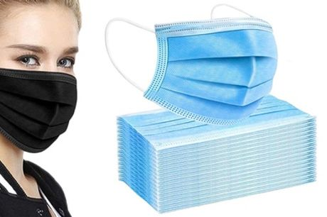 50 Disposable Three-Ply Face Masks