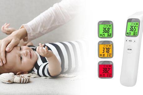 Nu kan du nemt måle din eller familiens temperatur med et praktisk kontaktløst termometer.