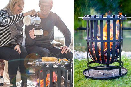 Fyr op under hyggen med et bålsted og rist pølser m.m. på den inkluderede grillrist - inkl. fragt
