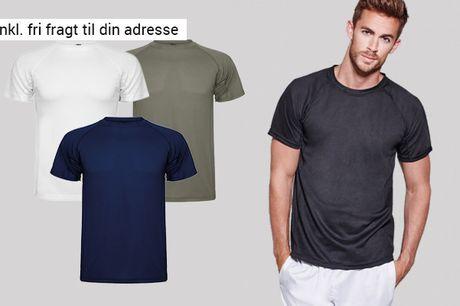 Styrk både din indsats og motivation med denne åndbare t-shirt til herrer - inkl. fragt